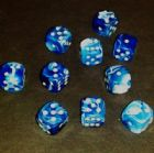12mm Marble Spot Dice - Blue